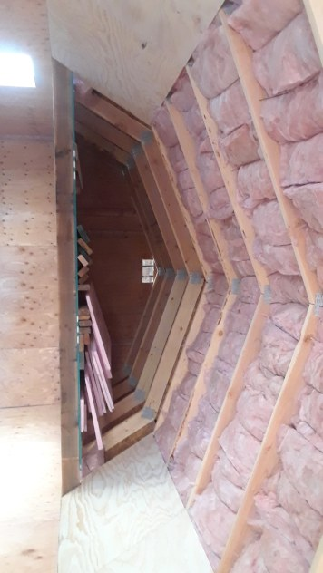 Insulation in the ceiling
